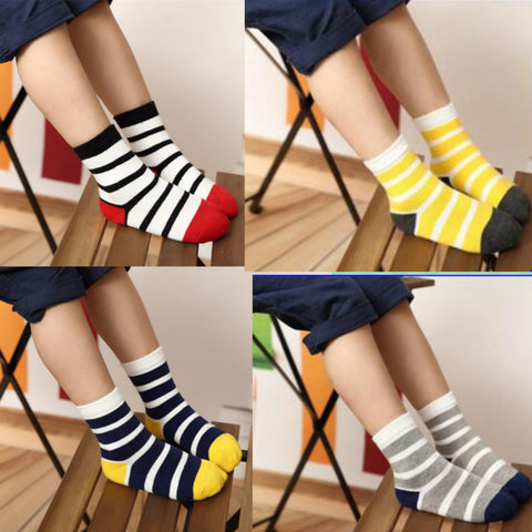 5 Pairs Baby Boy Socks Children Autumn Winter Cartoon Socks for Girls Kids for Girls To School Sport Baby Girl Clothes Striped