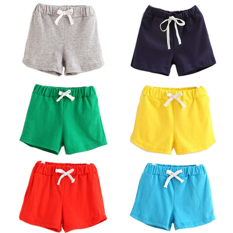2019 Summer Girl Shorts Children's Wear Cotton Candy Color Shorts Baby Fashion Pants Summer Boys Beach Pant Shorts