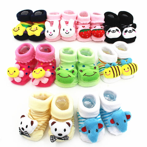Excellent Quality. Baby Girl Foot Socks, Funny Happy Socks... Newborn Rubber Anti Slip Socks