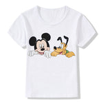 New 2018 baby boy girl summer cotton Mickey T-shirt young children wear children's printed clothing T-shirt top