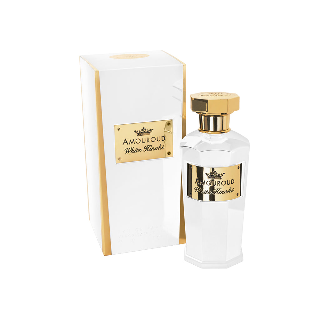 Amouroud White Hinoki Bottle with Packaging