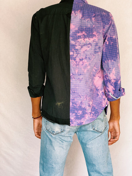 Split Purple Flannel - shirts - Freak-i$h