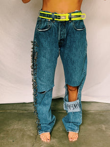 Safety Pin Jeans - pants - Freak-i$h