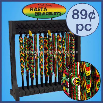 Rasta bracelet display