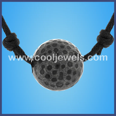Slider Cord Musket Ball Necklace