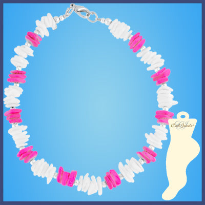 Neon Shell Anklets