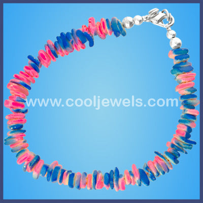 Two Toned Neon Shell Bracelets