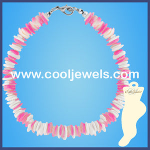 Pastel Shell Chip Anklets