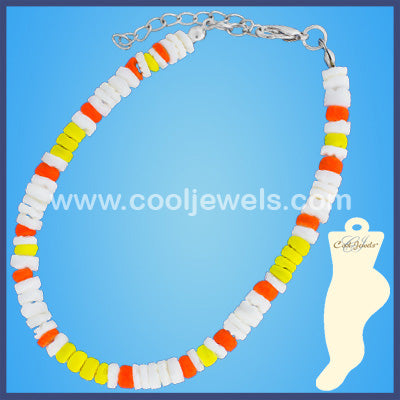 Neon Shell Anklet