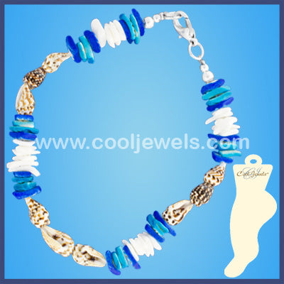 Shell Chip Anklets