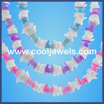 Pastel Chip Shell Neck Chokers