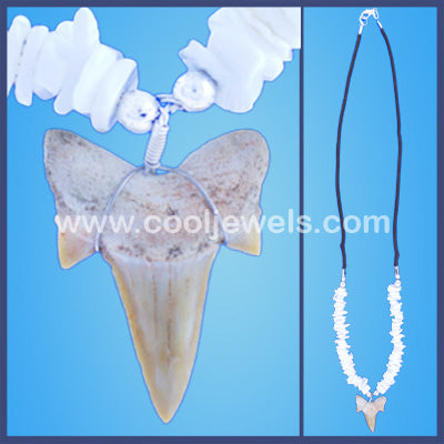 Fossil Tooth Shell Chip Necklace