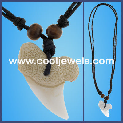 Exact Replica Shark Tooth Cord Necklaces