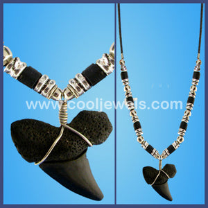 Black Shark Tooth Necklace
