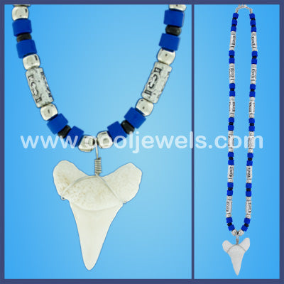 Ivory Colored Shark Tooth Necklaces