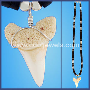Silver Beaded Tooth Necklaces