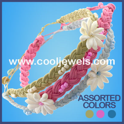 Braided Flower Bead Neck Chokers