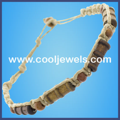 Hemp Wood Bead Bracelets