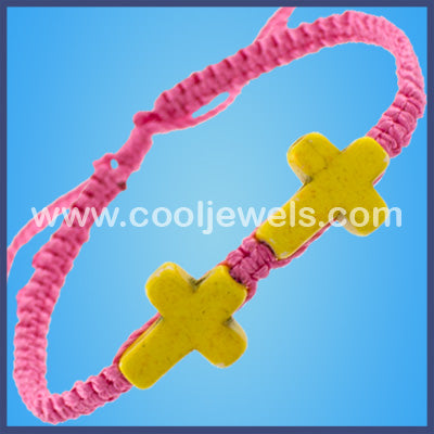 Woven Double Crosses Bracelets