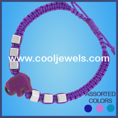 Woven Colored Elephant Bracelets
