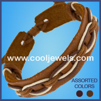 Leather Slider Bracelets