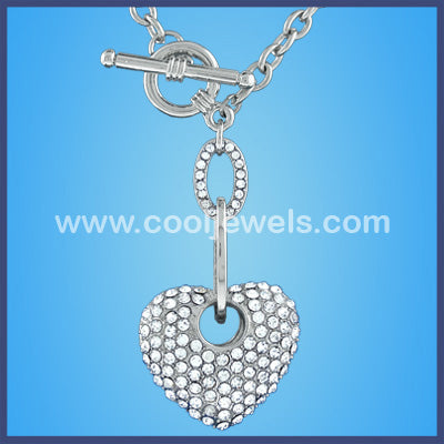 Rhinestone Heart link Necklace