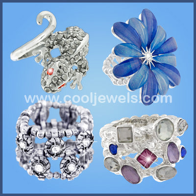 Web Special - 4 dozen Assorted Pack of Fashion Rings for $48 (Just $1/ pc)