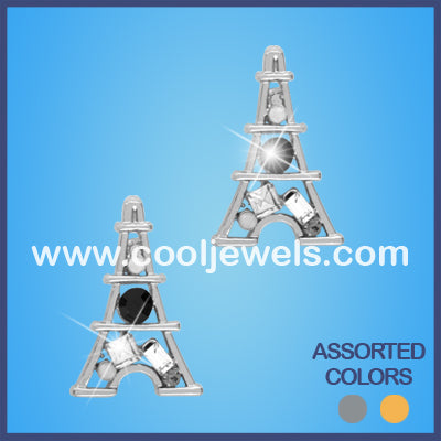 Eiffel Tower Rhinestone Earrings