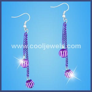 Assorted Colored Beads and Chains Earrings