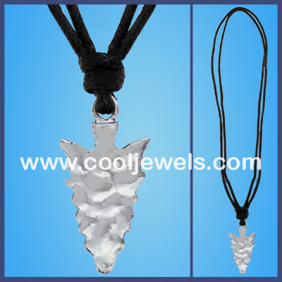 Silver Arrow Cord Necklaces