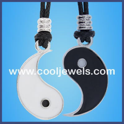 Best Friends Enamel Yin Yang Necklaces
