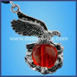 Eagle & Crystal ball Necklace