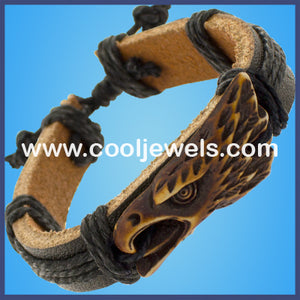 Resin Eagle Leather Bracelets