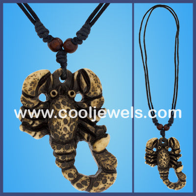 Resin Scorpion Necklace