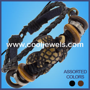 Resin Turtle Leather Bracelets