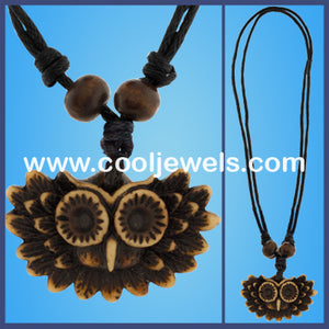 Resin Owl Necklaces