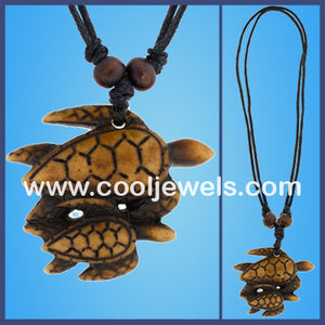 Resin Turtles Necklace