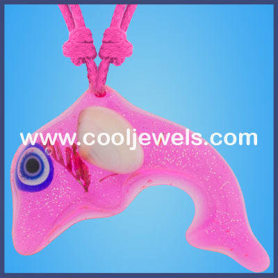 Resin Dolphin Necklace