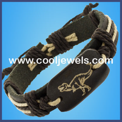 Leather Dinosaur Bracelets