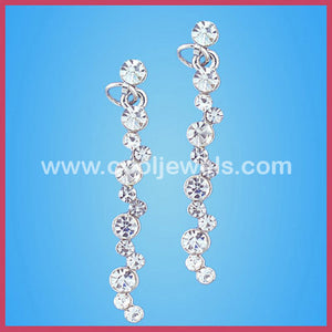 Rhinestone Silver Earrings