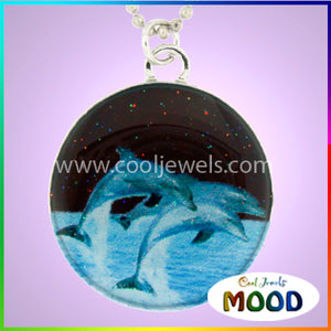 7598-DO-NK Dolphin Mood Necklace