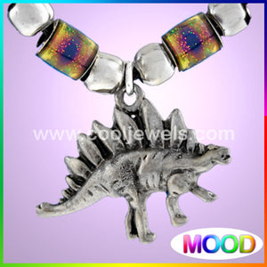 Pewter Dinosaur Necklace