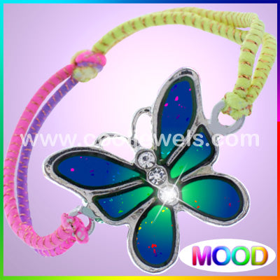 Colored Woven Mood Butterfly Bracelets