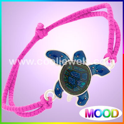 Color Woven Mood Turtle Bracelets