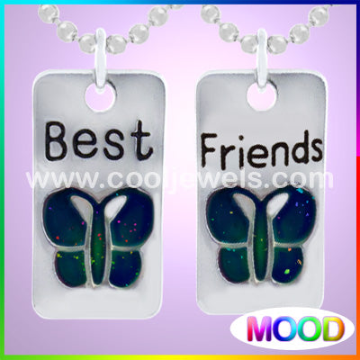 Mood Butterfly Best Friends Necklace