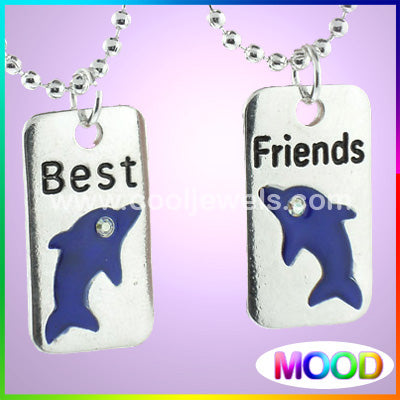 Mood Dolphin Best Friends Necklace