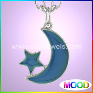 Mood Moon and Star Necklaces