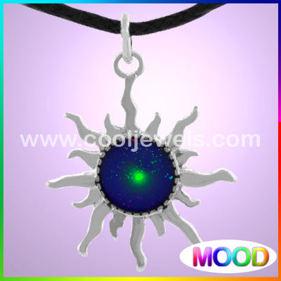 Silver and Mood Sun Necklaces