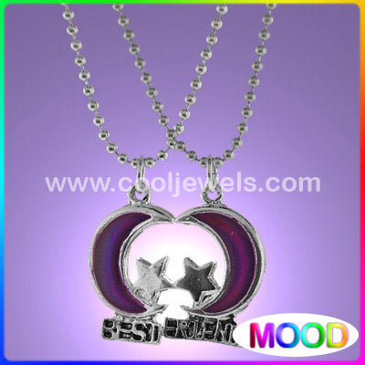 Mood Moon and Star Best Friends Necklaces