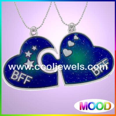 BFF Mood Heart Puzzle Necklaces